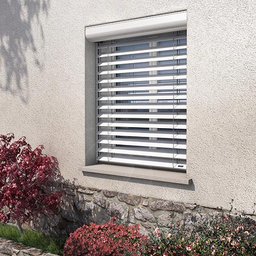 Brise soleil orientable BSO Profalux alu - installation EPMR à Marignane, Vitrolles, Aix-en-Provence