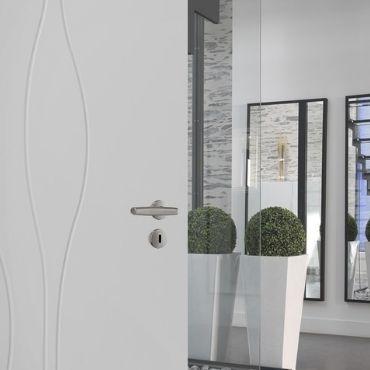 Porte intérieure gravée Technidecor® HUET menuiserie EPMR