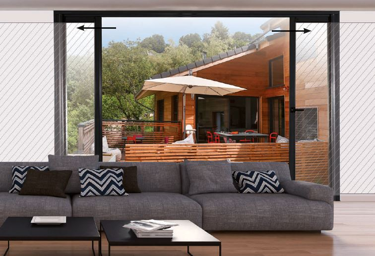 Fenêtre baie vitrée coulissante galandage alu - EPMR Menuiserie ©F.P.E.E