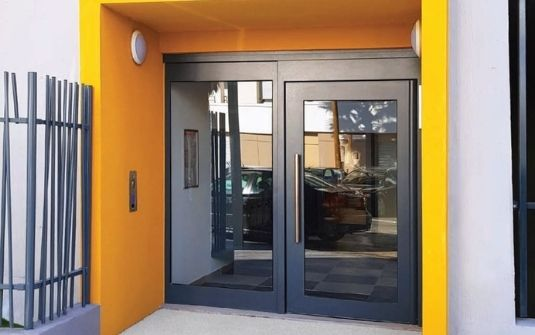 Porte d'entrée hall d'entrée métallique CIBOX - EPMR