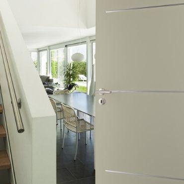 Porte intérieure inserts alu - HUET - EPMR Marseille