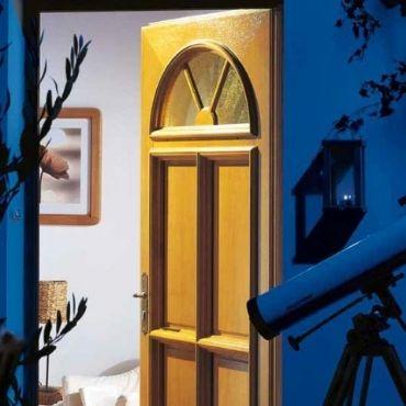 porte d'entrée classique bois - ELVA - EPMR