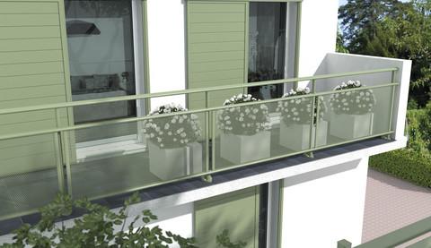 Garde corps alu et verre SIB terrasse - EPMR