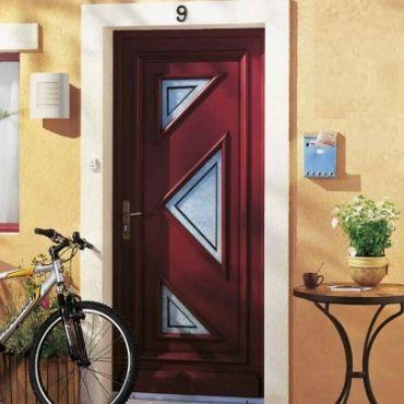 Porte d'entrée bois couleur ELVA - EPMR Pennes-Mirabeau 13