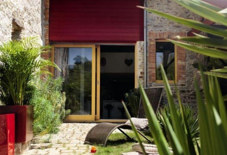 Baie vitrée coulissant bois - 2 vantaux - ©ELVA EPMR