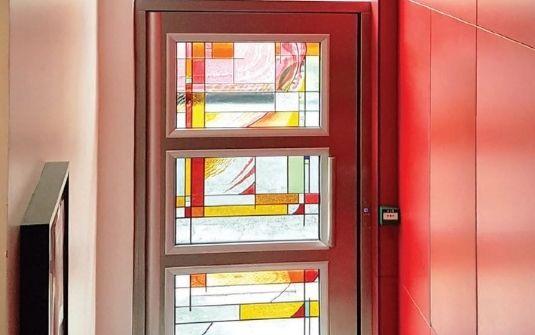 Porte d'entrée métallique vitraux CIBOX - EPMR
